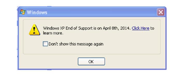 Windows XP alert
